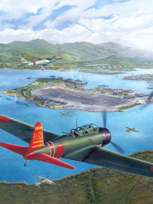 Tora Tora Tora The Attack on Pearl Harbor Begins by Stu Shepherd