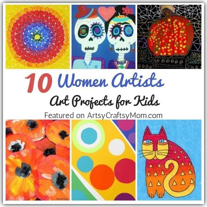 """Via Artsy Craftsy Mom - Top Indian hobby, art and craft blog for kids This Women's Day, celebrate some amazing female artists who've broken boundaries with art. Get kids started with our Amazing Art Projects by Women Artists. """"At the end of the day we can endure much more than we think we can."""" ~ Frida Kahlo The wonderful thing about art is that it means something different to every person. For some, it may be an expression of happiness. For another, it may be an escape from pain. For still anot"""