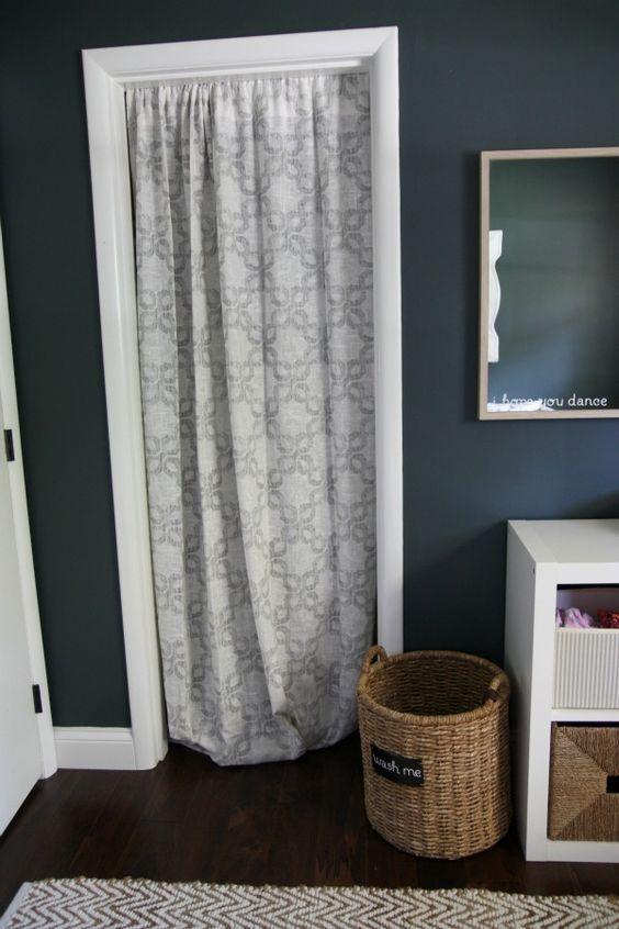 House Tweaking Curtains For Closet Doors Diy Closet Doors