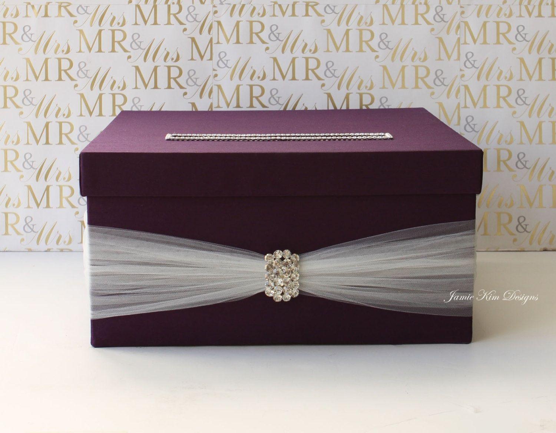 Money Envelope Box Card Box Wedding Wedding Card Boxes Purple Money Box Wedding