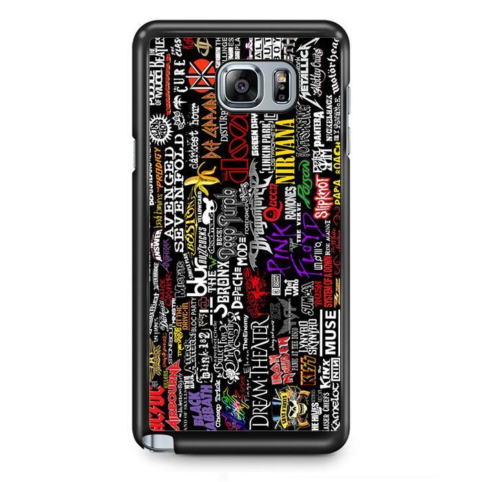Rock Metal Collage TATUM-9287 Samsung Phonecase Cover Samsung Galaxy Note 2 Note 3 Note 4 Note 5 Note Edge