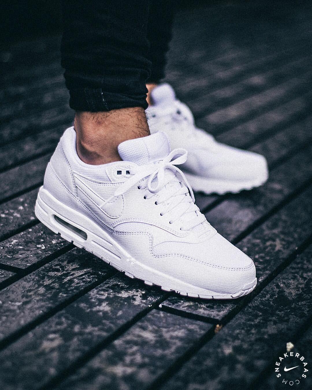 cheap for discount db505 8debe Nike Air Max 1 Premium Triple White  sneakers  sneakernews  StreetStyle   Kicks  adidas  nike  vans  newbalance  puma  ADIDAS  ASICS  CONVERSE   DIADORA ...