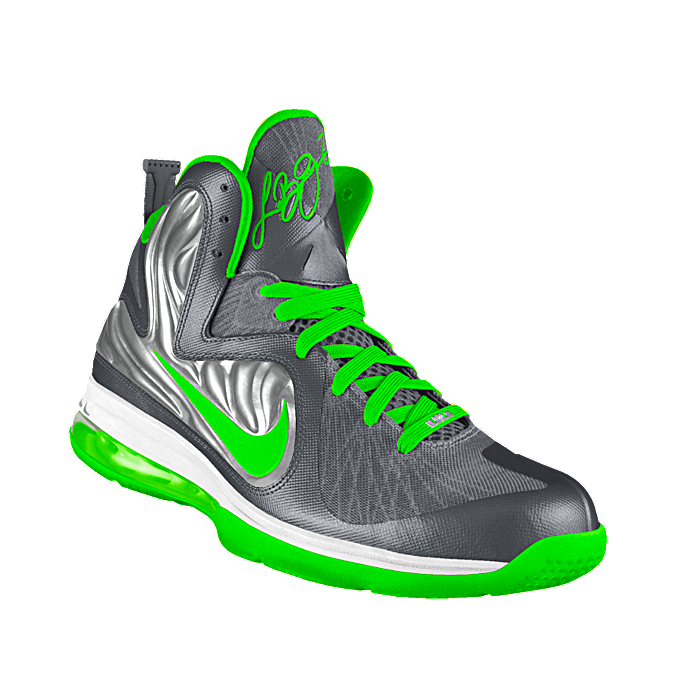 Custom LeBron 9 Limited iD Basketball Shoe , Lime Green !