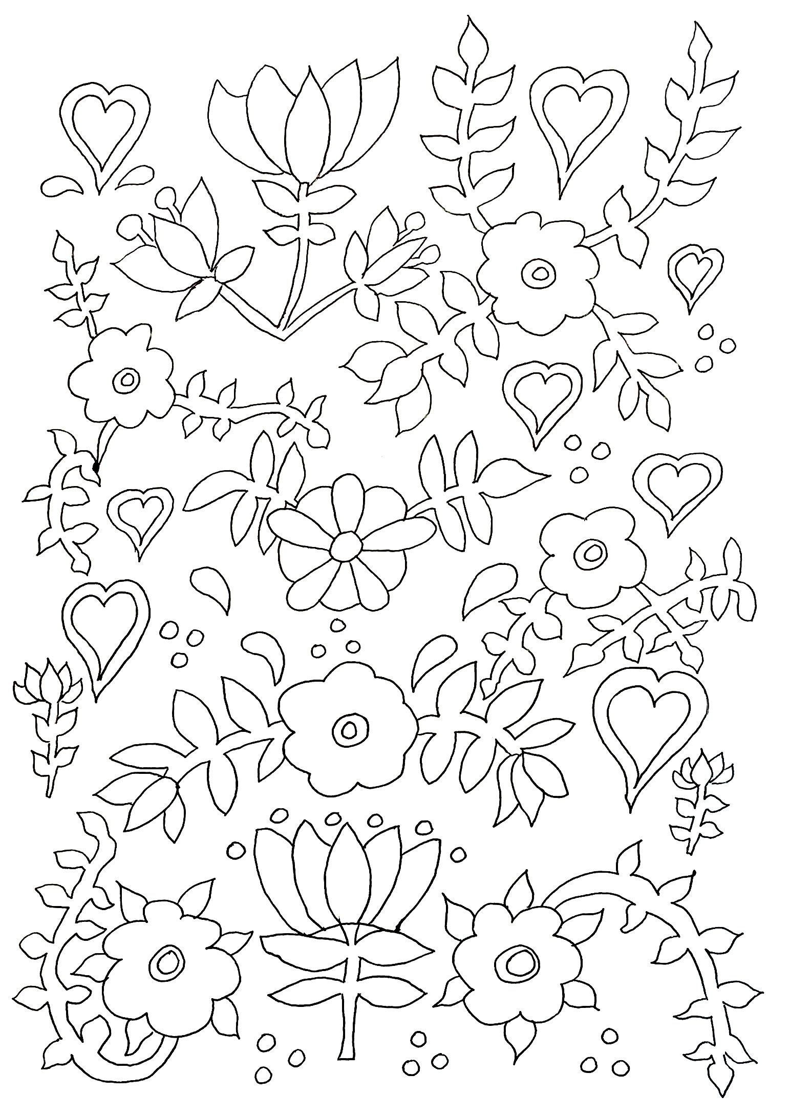 coloring-adult-flowers, From the gallery : Flowers And Vegetation ...