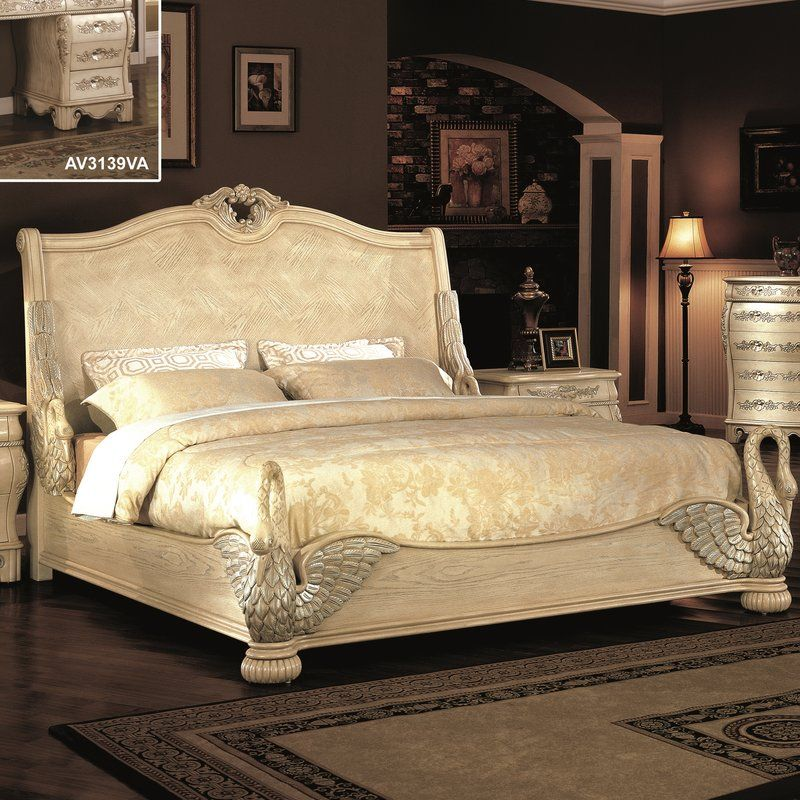 Norman Swan King Sleigh Bed With Images King Sleigh Bed Sleigh Beds Bed