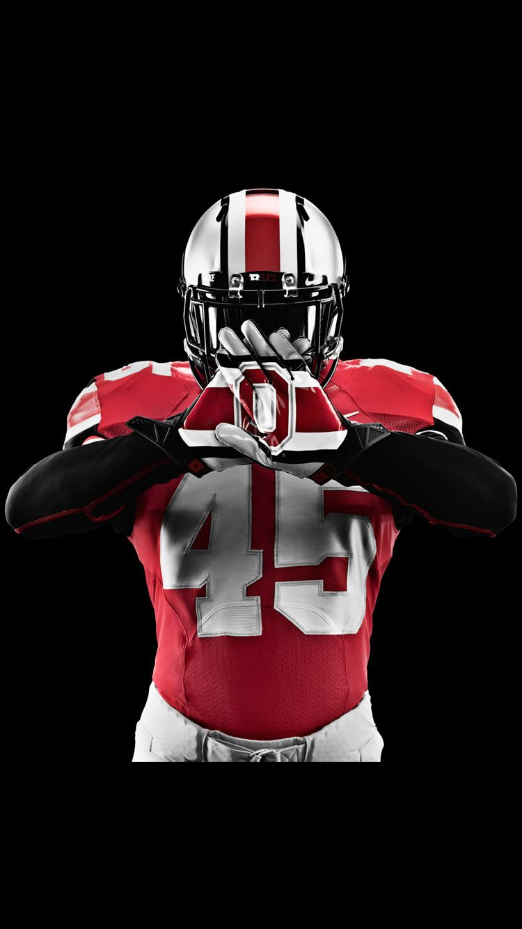 Ohio State Football Wallpaper in Black Background for iPhone 6s | Sports | Ohio state buckeyes ...