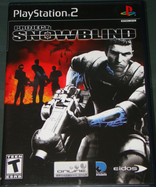 Playstation 2 eidos PROJECT SNOW BLIND with