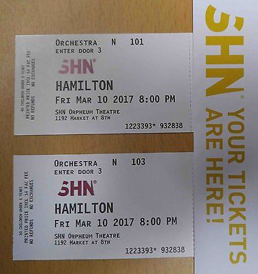 Hamilton Tickets Orpheum Theater 03 10 17 San Francisco Opening Night Http Dlvr It Nn93d9pic Twitter Com Mydt8pppoq