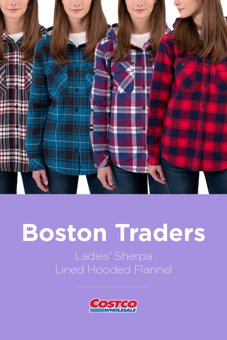 33eb10e43e27 Boston Traders Ladies  Sherpa Lined Hooded Flannel