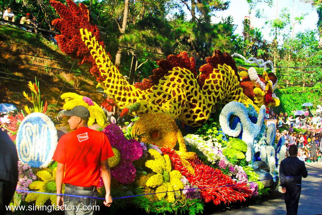 Panagbenga Festival 2012 Grand Flower Float Parade Sining Factory Flower Festival Flowers Festival