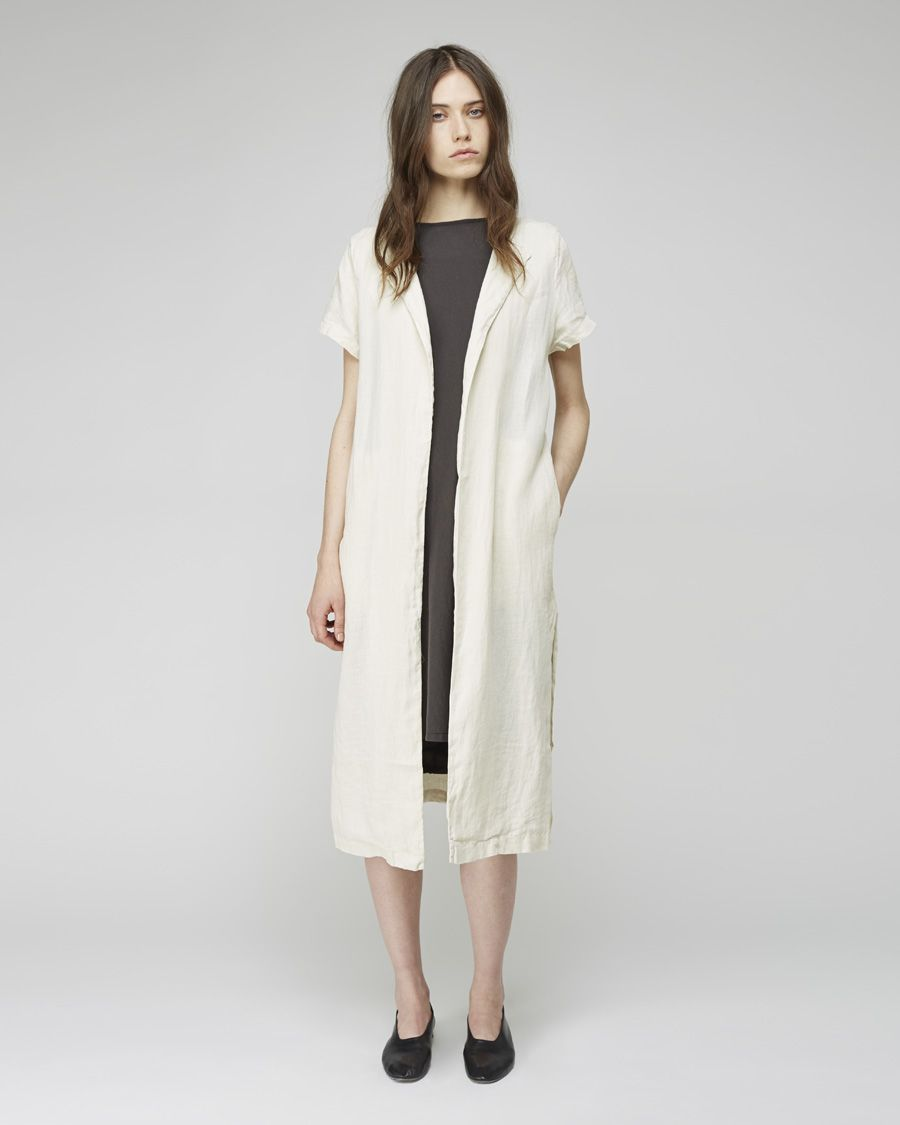 Black crane long linen coat la garçonne ooo iull take that