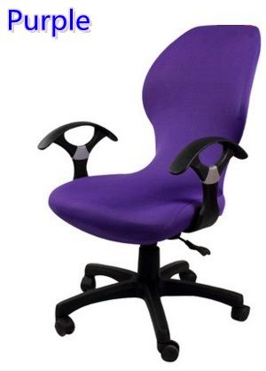 Purple Colour Lycra Computer Chair Cover Fit For Office Chair With Armrest Spandex Chair Cover Decoration W Spandex Chair Covers Chair Cover Cheap Chair Covers