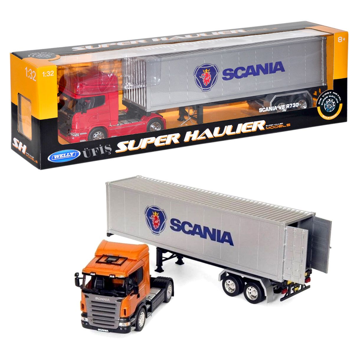 Welly 1 32 Metal Scania V8 E730 Tanker Panosundaki Pin