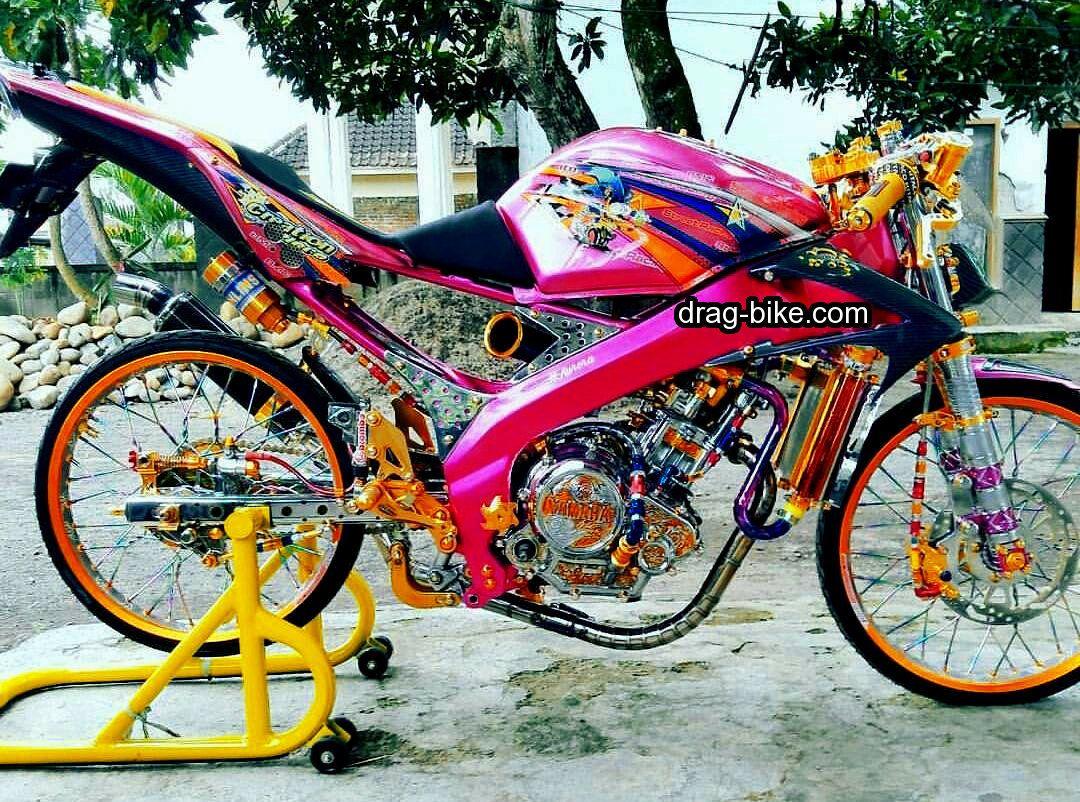 Modifikasi Motor Vixion Velg Jari Jari Street Racing Dengan