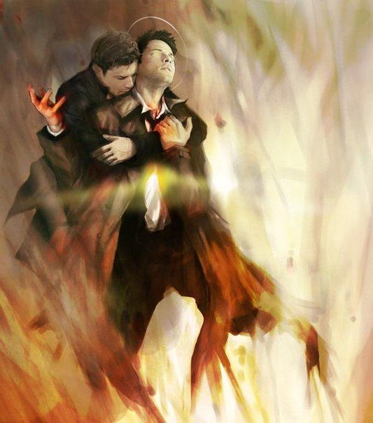 Amazing Fanart Of Cas And Dean. I Love That It's Dean