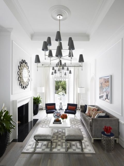 Long Narrow Living Room Decoratd In The Wrong Style But I Like