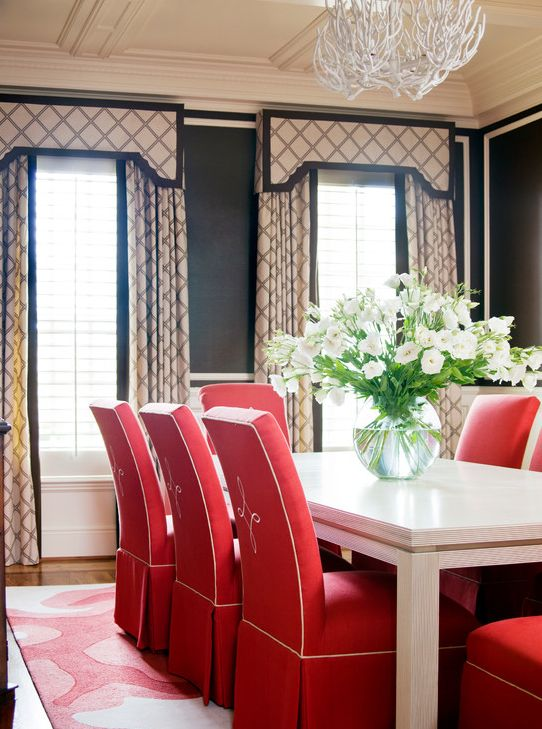 Houzz 3 Dining Room Windows Red Dining Room Home Decor