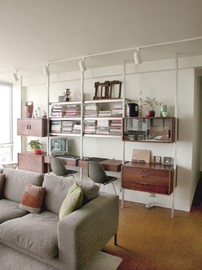 Custom Shelving Ideas rakks with ikea cabinets. we already have the rakkscould this