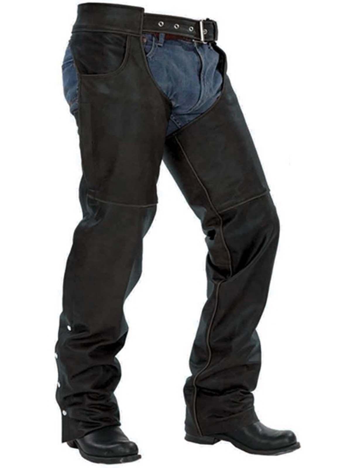 Unik Unisex Big Tall Jean Style Leather Motorcycle Chaps Big Tall Jeans Motorcycle Chaps Motorcycle Wear
