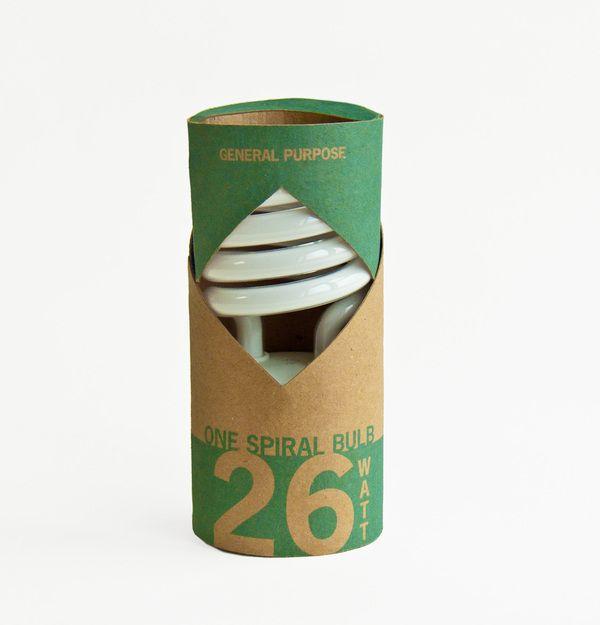 Eco-Friendly Lightbulb Packaging by Abby Hirsh, via Behance
