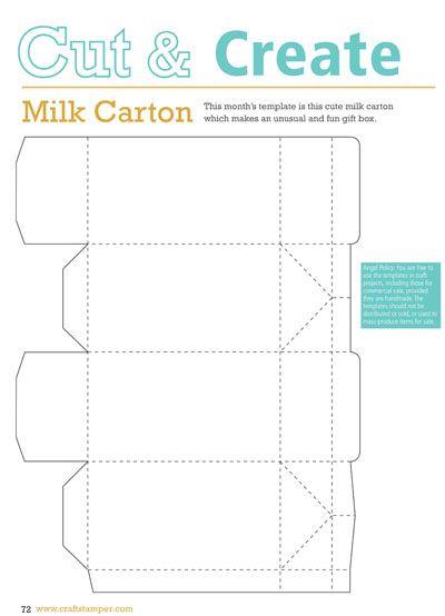 inspiredtomake - Milk Carton Template Mini Milk Carton Neighorhood