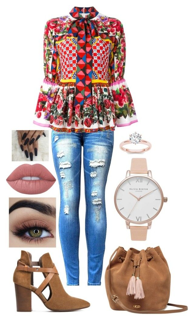 """""""Day 28"""" by deborahannah on Polyvore featuring Dolce&Gabbana, H London, UGG, Olivia Burton and Lime Crime"""