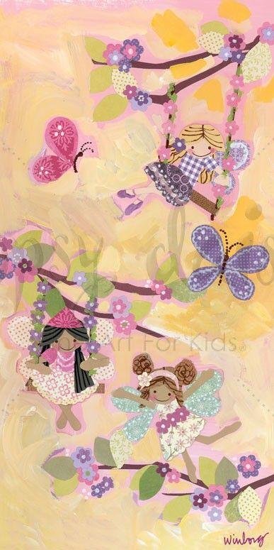 Swinging Fairies - Fairies Canvas Wall Art | Oopsy daisy | girl room ...