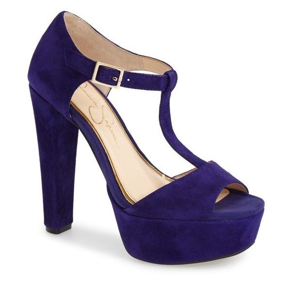 "Jessica Simpson 'Adelinah' T-Strap Platform Sandal, 5"" heel ..."