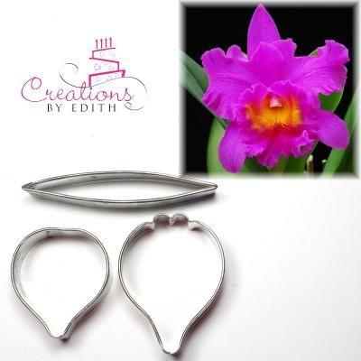 Cattleya Orchid Flower Cutter 2 Cold Porcelain Flowers Sugar Paste Flowers Porcelain Flowers