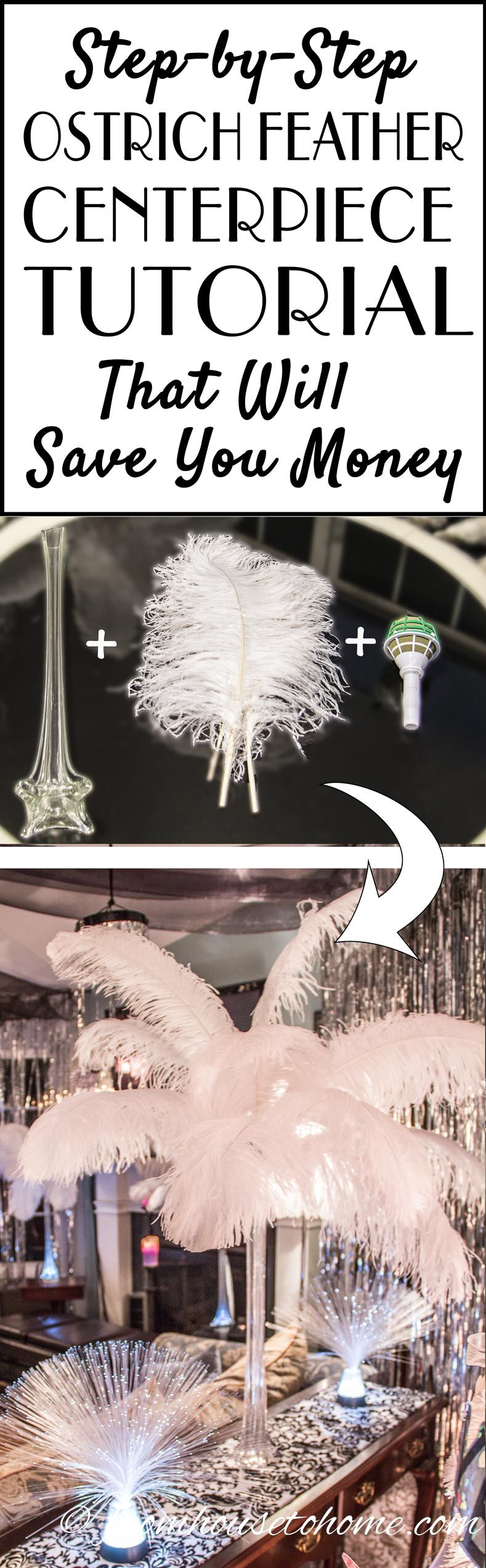 How To Make Gorgeous DIY Ostrich Feather Centerpieces (+ 7 variations)
