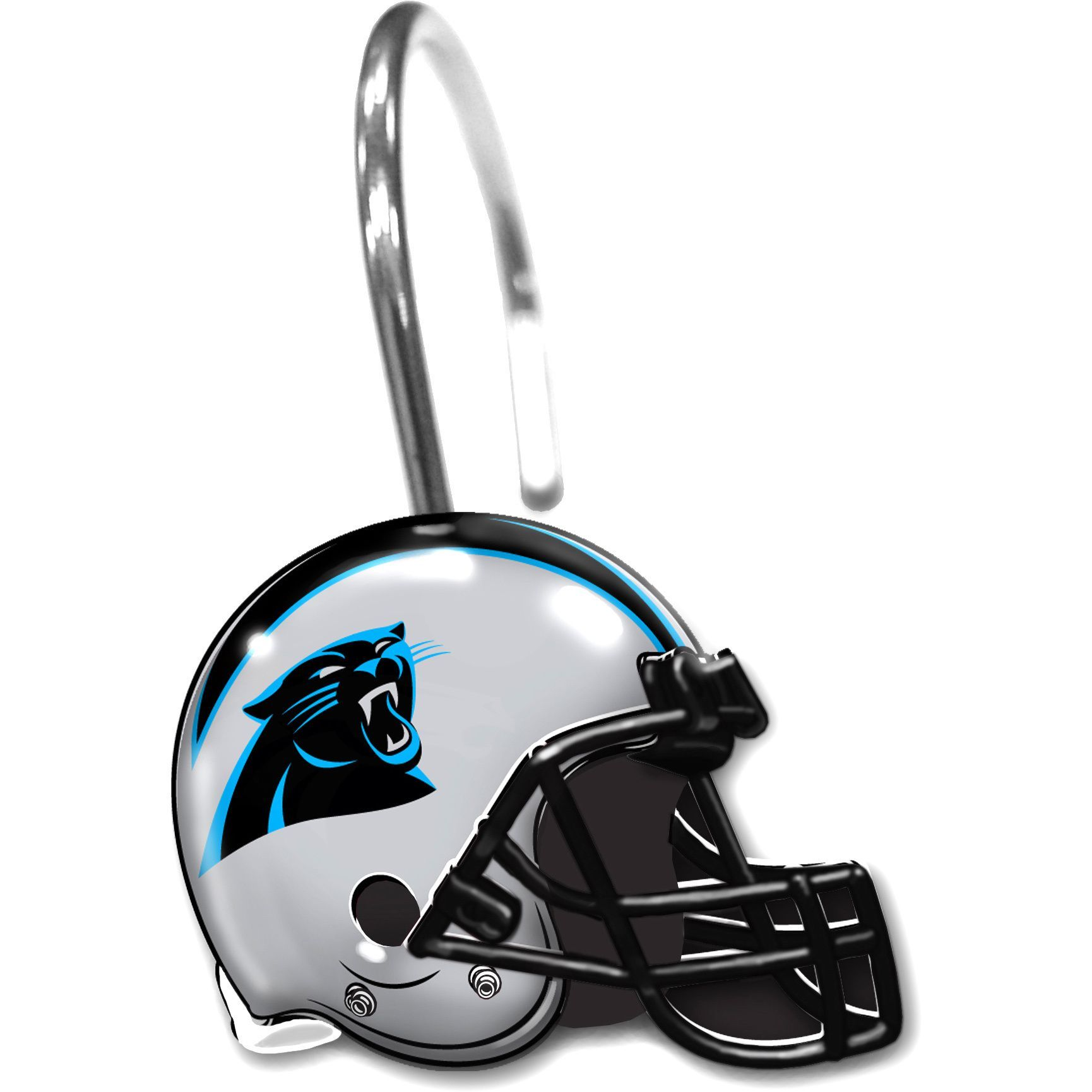 [[start Tab]] Description What Better Way To Hold Up A Shower Curtain Than  With Shower Rings That Show Off Your Favorite NFL Carolina Panthers Team?