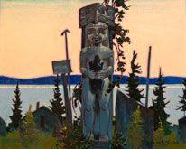 Robert Genn, artist, original landscape paintings at White Rock Gallery The Gift in Late Light