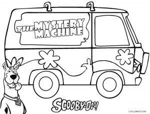 Scooby Doo Mystery Machine Coloring Pages School Stuff Scooby