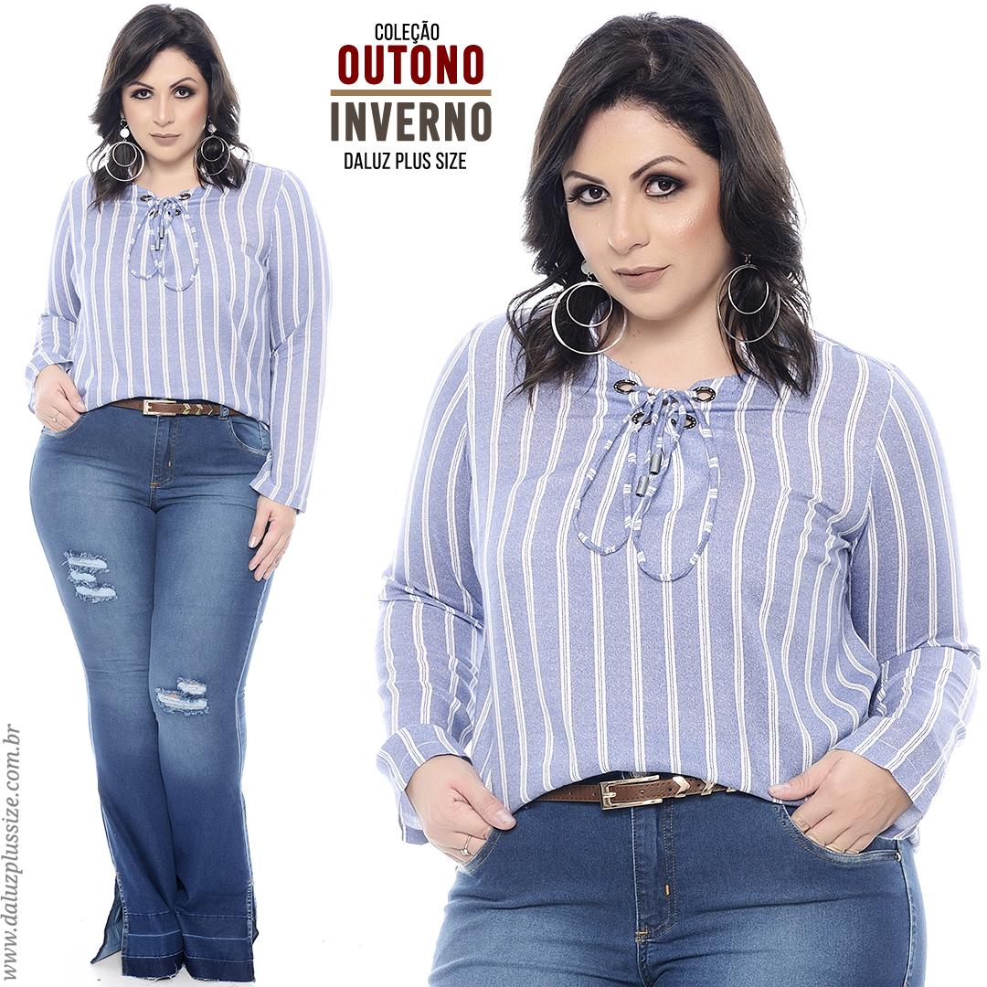 04a0d864c Blusa Plus Size - Coleção Outono Inverno 2018 - www.daluzplussize.com.br