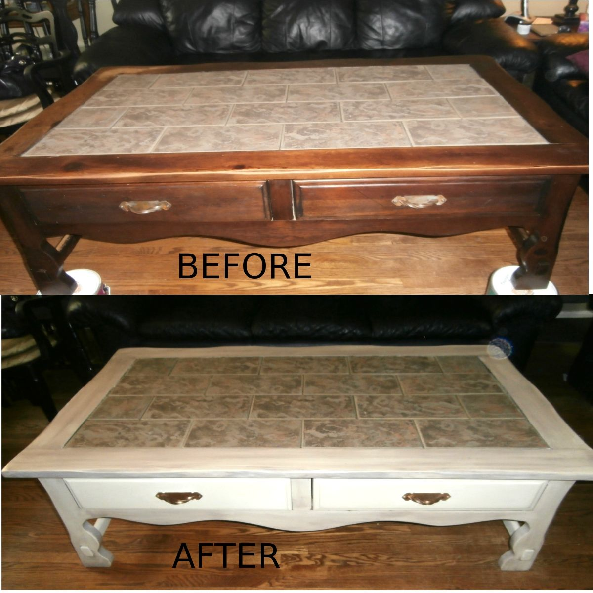 Old Coffee Table Makeovers Coffee Table Makeover Annie Sloan Old Ochre With French Linen