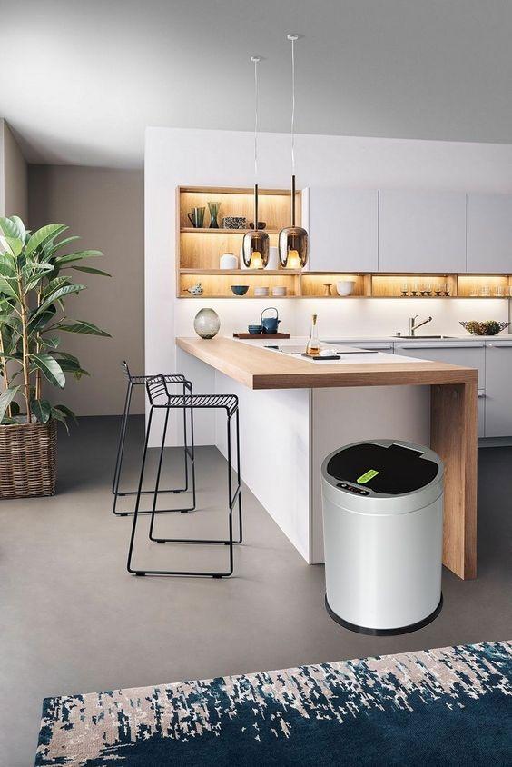 Best Automatic Garbage Can Kitchen Rumah Kabinet Dan Meja 400 x 300