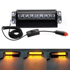 Strobe Lights For Cars Adorable 8 Led Car Deck Dash Strobe Flash Warning Emergency Lights Decorating Inspiration
