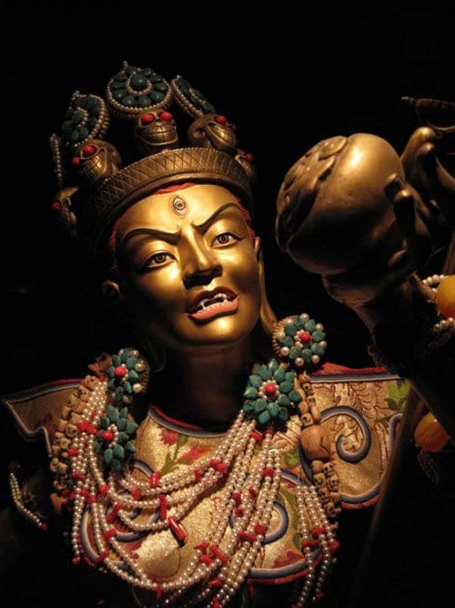 vajrayogini. I believe this image is from Tsem Rinpoche's site. He is a wonderful teacher whom I respect very much.