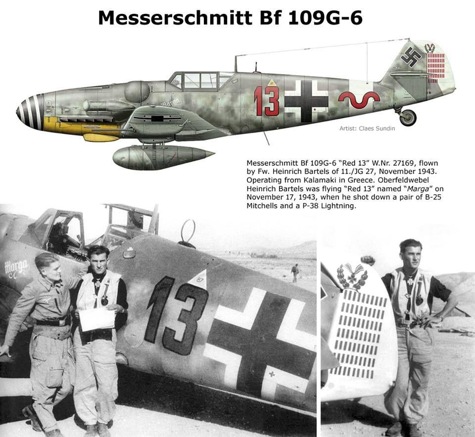 Messerschmitt Bf 109G-6 Ww2 Aircraft, Fighter Aircraft, Military Aircraft, Messerschmitt  Me