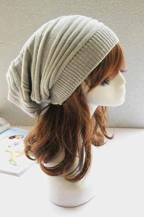 a7a709ff Beige Slouchy Knitted Hat Cap Bonnie | Fashion | Knitted hats ...
