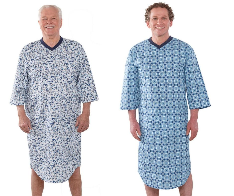 Poly Cotton Hospital Gowns For Men Night Gown Hospital Gown Adaptive Clothing
