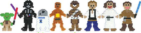 Star Wars characters perlerbeads (only photo)