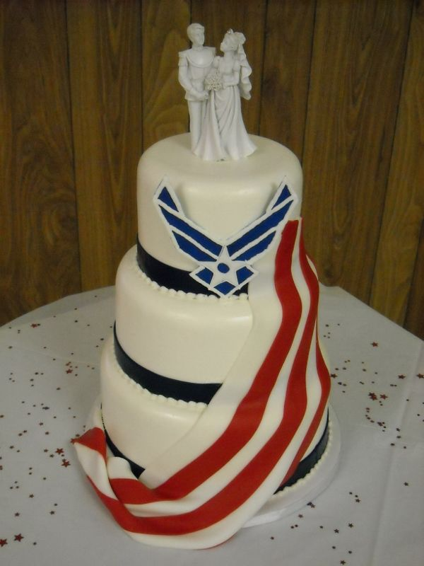 Air Force Wedding Cake Not In Love With The Cake Topper