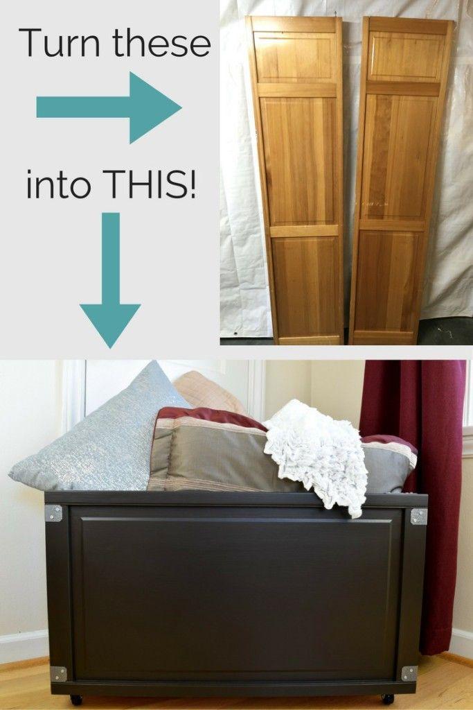diy furniture makeover full tutorial. DIY Blanket Box Made From Bi-fold Doors Diy Furniture Makeover Full Tutorial I