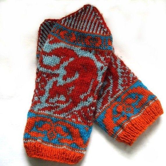 PDF Knitting Pattern- Garden Gnome Mittens   Handwärmer, Stricken ...