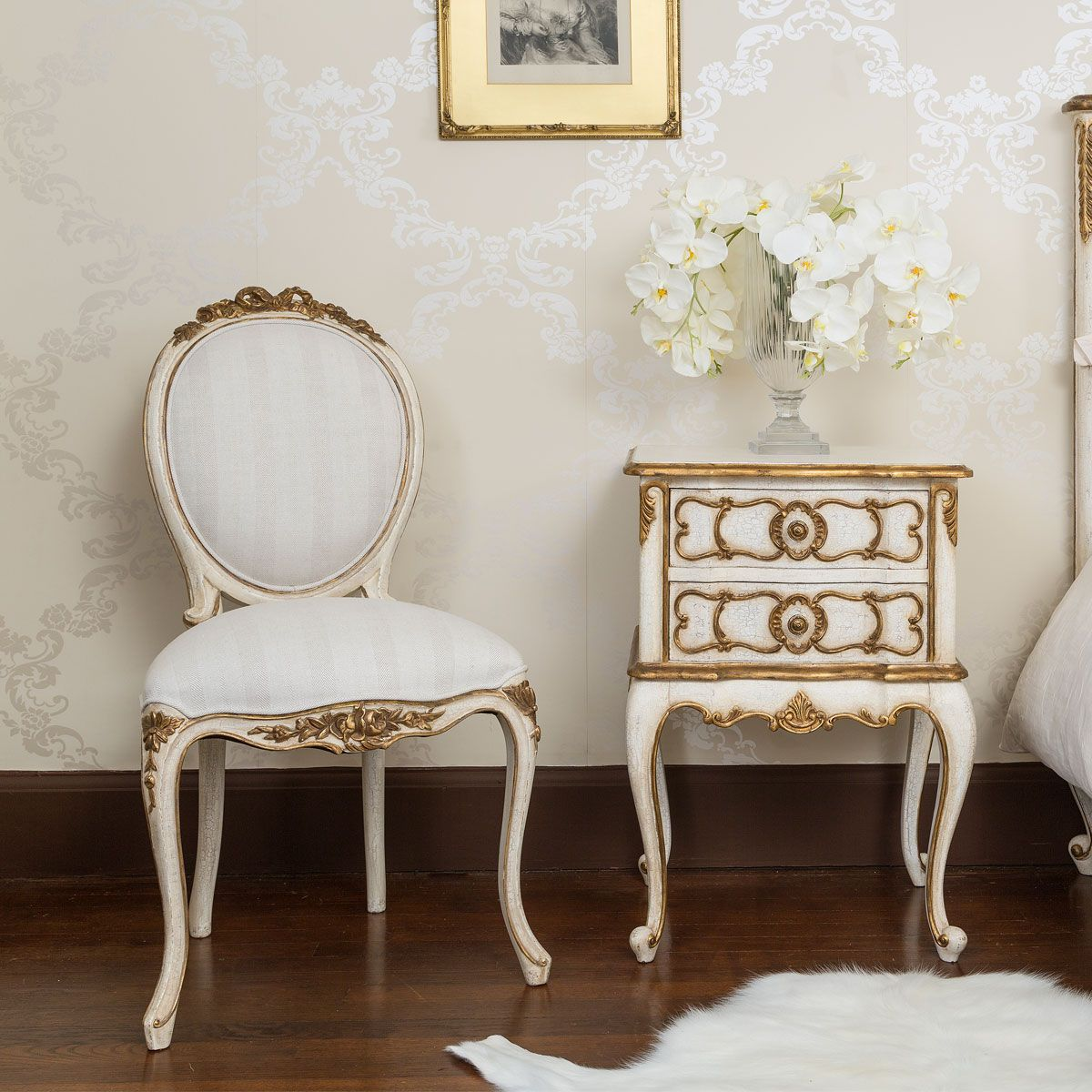 Terrific Palais Royal Ivory Gold French Chair In 2019 French Machost Co Dining Chair Design Ideas Machostcouk