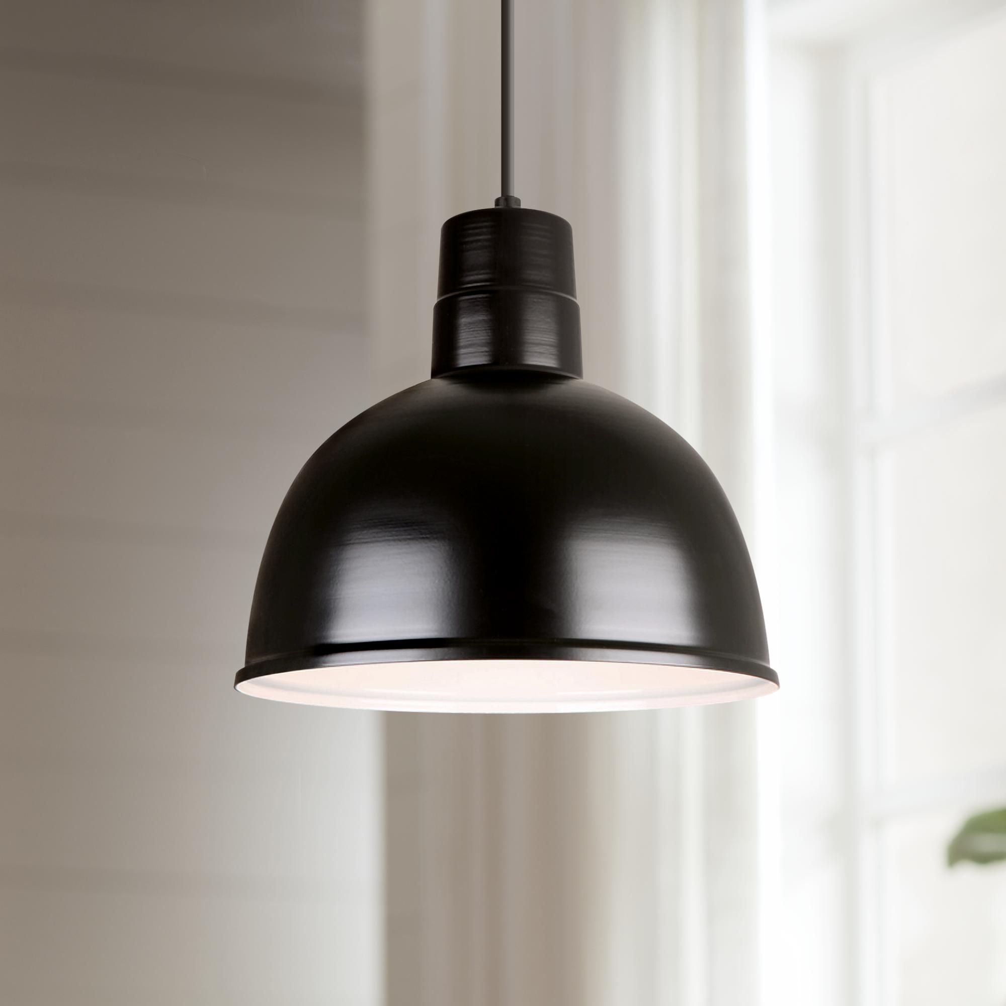 Hi Lite Deep Bowl Shade 12 Inch Wide Black Mini Pendant Light Pendant Light Mini Pendant Lights Black Pendant Light Kitchen