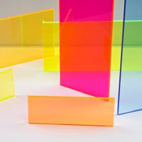 1 8 X 24 X 48 Orange Fluorescent Acrylic Sheet U S Plastic Corp Colored Acrylic Sheets Acrylic Sheets Acrylic Sculpture