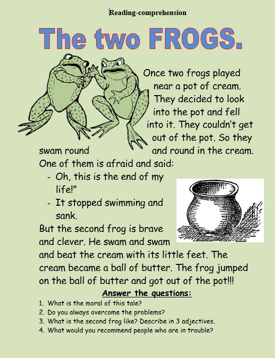 Worksheets Sample Reading Materials For Grade 3 the two frogs reading comprehension httpmyreadingkids comtwo comtwo