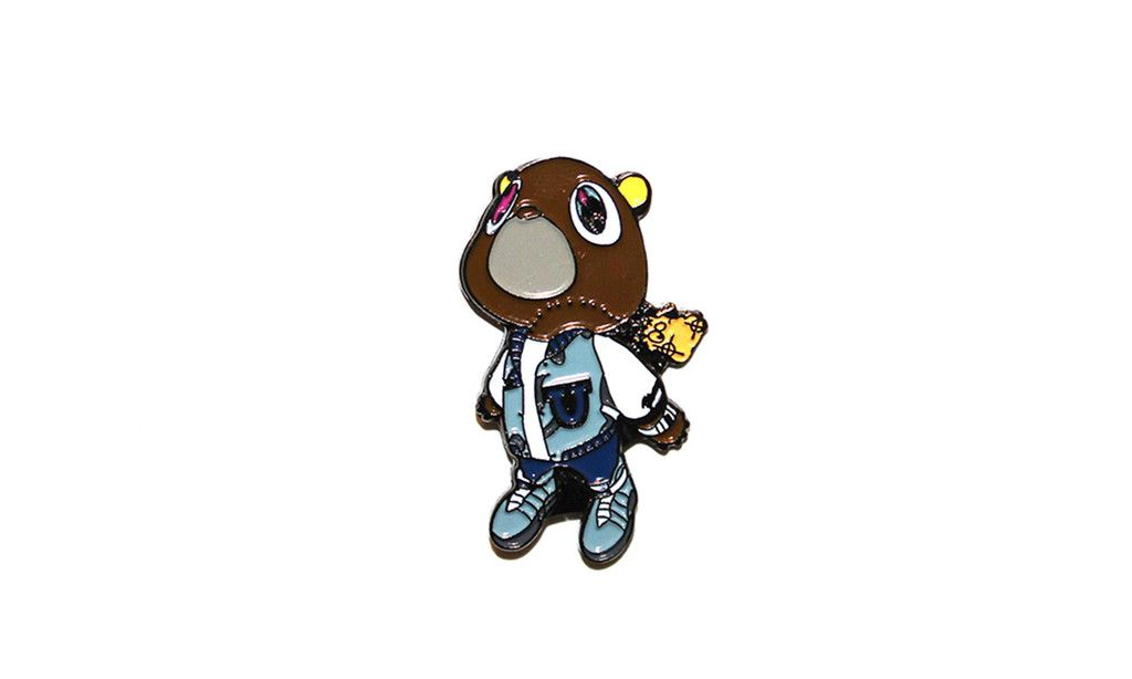 6168ffafe20dd The infamous Dropout Bear is Kanye West s mascot and trademark used in his  album College Dropout. size 38.1 25.2mm